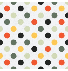 Seamless variegated polka dot pattern vector