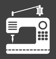Sewing machine solid icon household and appliance vector