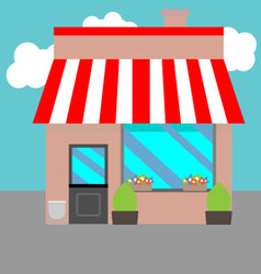 Small street shops vector