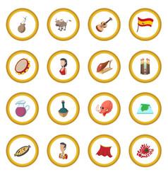 Spain icon circle vector