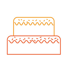 Sweet cake for birthday party decorated vector