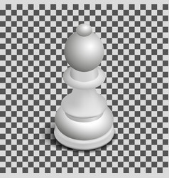 white chess piece bishop isometric vector image