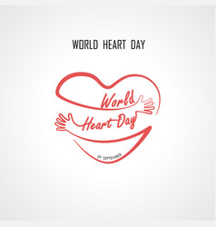 world heart day typographical design elements vector image vector image