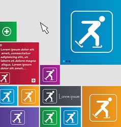 Ice skating icon sign buttons modern interface vector