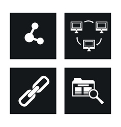 Internet of Things and media design vector image