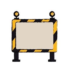 Drawing barricade safety maintenance work vector