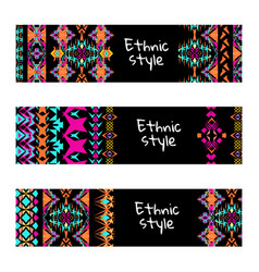 set of colorful horisontal banners vector image