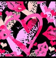 Seamless brushpen textile doodle pattern grunge vector