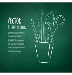 Art tools in holder vector