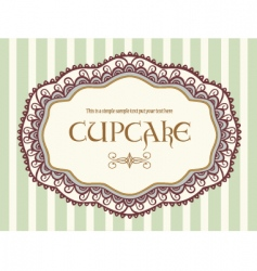 cute vintage label vector image