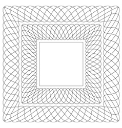 Square shaped guilloche pattern vector