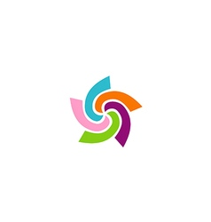 Circle colorful spin logo vector