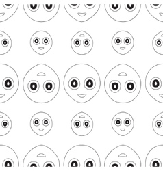 Smiley seamless vector