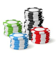 Casino chips stacks - gambling chips vector