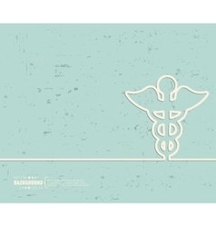 Creative caduceus art vector