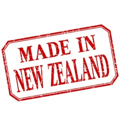 New zealand - made in red vintage isolated label vector