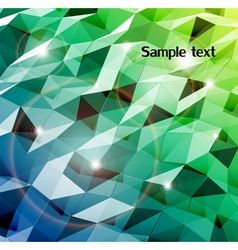 Abstract cyan background Combination of triangle vector image vector image