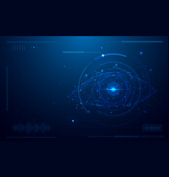 abstract futuristic digital eye scanner concept vector image