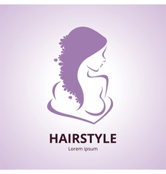 Abstract logo a stylized profile of a women vector
