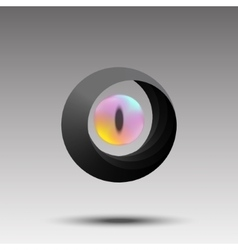 Abstract photographer logo eye concept vector image