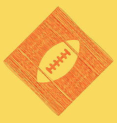 american simple football ball red vector image vector image