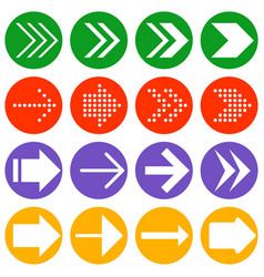 arrow icon collection vector image