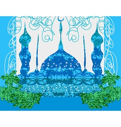 Artistic pattern background with mosque vector