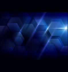 Blue abstract technology concept background vector