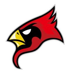 cardinal head vector image vector image