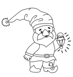Cartoon gnome vector