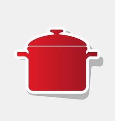 Cooking pan sign new year reddish icon vector