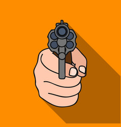Directed gun icon in flat style isolated on white vector