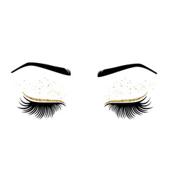 Eyes with long eyes lashes vector
