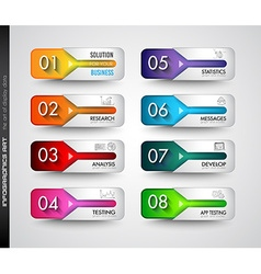 Infographic template for your business solutions vector image