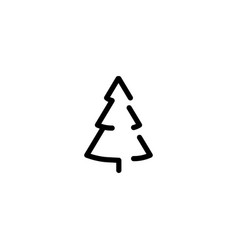isolated black and white color trees vector image vector image