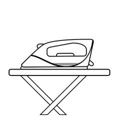 Isolated iron machine design vector