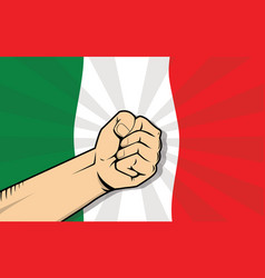 Italy europe country fight protest symbol with vector