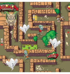 maze horror pattern vector image