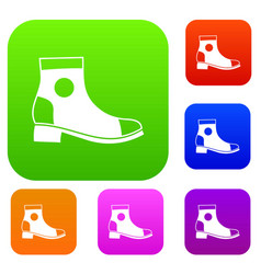 men boot set collection vector image