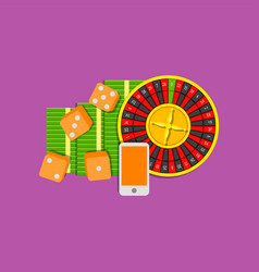 online gambling flat colored on vector image vector image