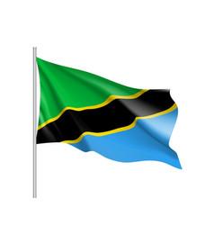 Tanzania flag realistic vector
