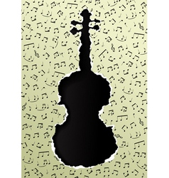 Violin torn paper vector