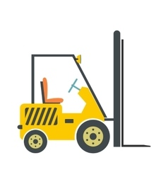 Yellow loader flat vector