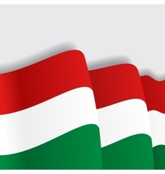 Hungarian waving flag vector