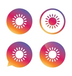 Sun icon sunlight summer symbol vector