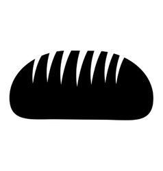 Silhouette monochrome with big bread vector