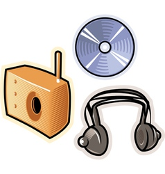 objects for music vector image