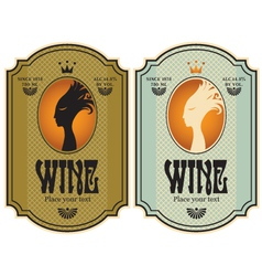 labels for wine vector image