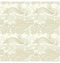 ornate seamless pattern vector image