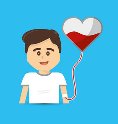 Blood donation campaign icon vector